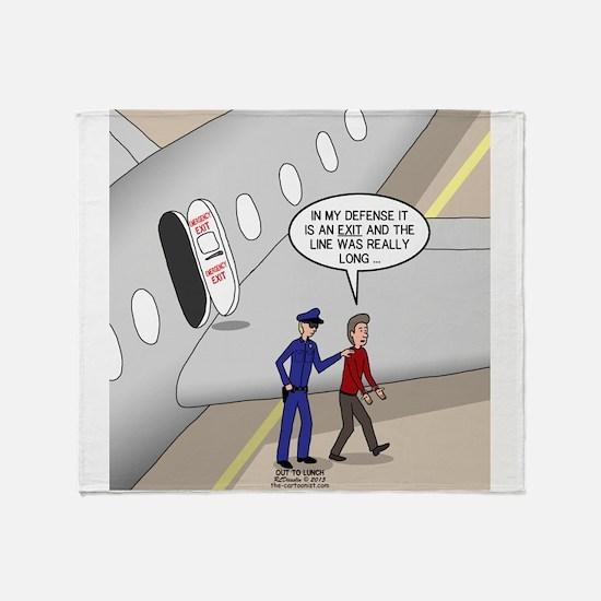 Airplane Exit Throw Blanket