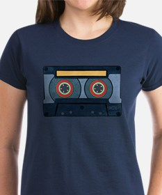 Blue Cassette Women's Dark T-Shirt