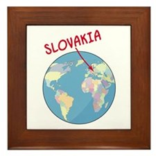 Slovakia Globe Framed Tile
