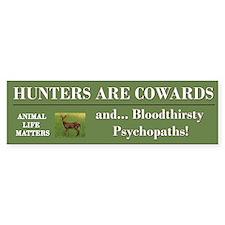 Anti-Hunters Bumper Car Sticker