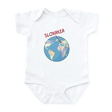 Slovakia Globe Infant Bodysuit