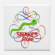 Snakes Rule Tile Coaster
