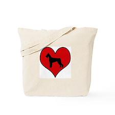 Giant Schnauzer heart Tote Bag