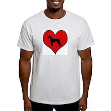 Giant Schnauzer heart T-Shirt