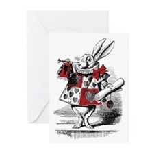 Ten White Rabbit Greeting Cards