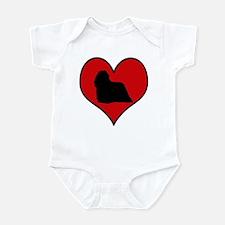 Komondor heart Infant Bodysuit