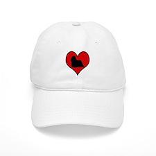 Komondor heart Baseball Cap