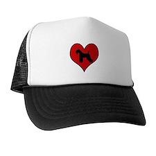 Kerry Blue Terrier heart Hat