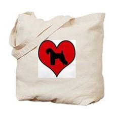 Kerry Blue Terrier heart Tote Bag