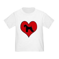 Kerry Blue Terrier heart T
