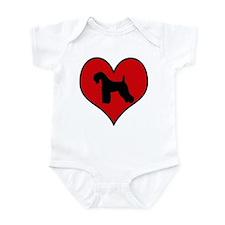 Kerry Blue Terrier heart Infant Bodysuit