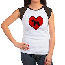 Kerry Blue Terrier heart Women's Cap Sleeve T-Shir