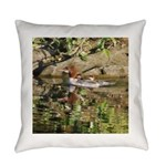 Merganser Family Everyday Pillow