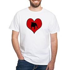 English Bulldog heart Shirt