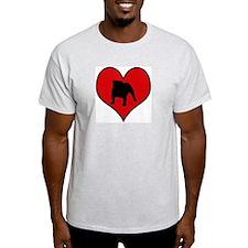 English Bulldog heart T-Shirt
