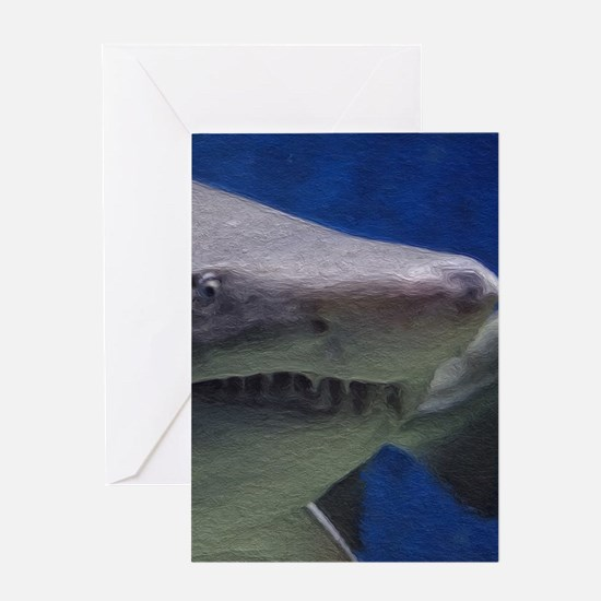 Painted Shark Greeting Cards