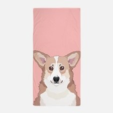 Welsh Corgi Beach Towel