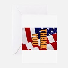 Cute Thank you military Greeting Cards (Pk of 20)