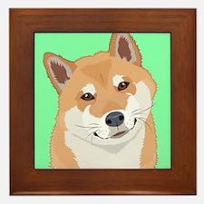 Shiba Inu Framed Tile