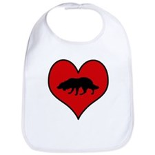 Bearded Collie heart Bib