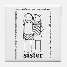 Sisters (1) Tile Coaster