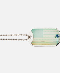 Tropical Beach Dog Tags