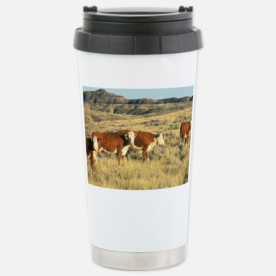 Hereford Cattle Stainless Steel Travel Mug