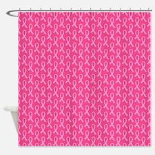 Pink Ribbon Pattern Shower Curtain