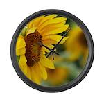Sunflower Photo Large Wall Clock