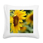Sunflower Photo Square Canvas Pillow
