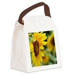 Sunflower Photo Canvas Lunch Bag