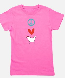 Cute Peace love chickens Girl's Tee