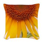 Sunflower Woven Throw Pillow