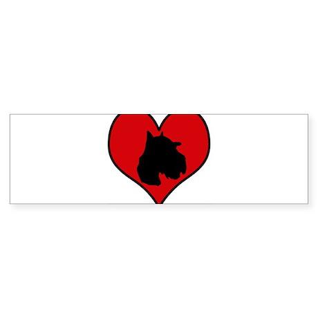 Schnoodle heart Bumper Sticker