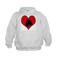 Schnoodle heart Hoodie
