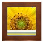 Sunflower Photo Framed Tile