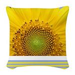 Sunflower Photo Woven Throw Pillow
