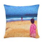 Children On Beach Everyday Pillow