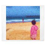 Children On Beach King Duvet