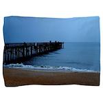 Flagler Beach Fishing Pier Photo Pillow Sham