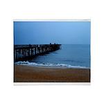 Flagler Beach Fishing Pier Photo Throw Blanket