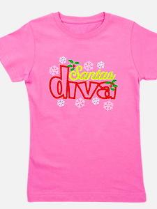 Santas Diva Girl's Tee