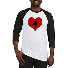 Affenpinscher heart Baseball Jersey