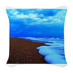Flagler Beach Shoreline Picture Woven Throw Pillow