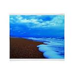 Flagler Beach Shoreline Picture Throw Blanket