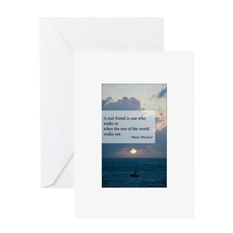 What a Real Friend Is Greeting Card