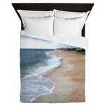 Flagler Beach Shoreline Queen Duvet