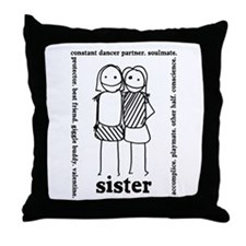 Sisters (1) Throw Pillow