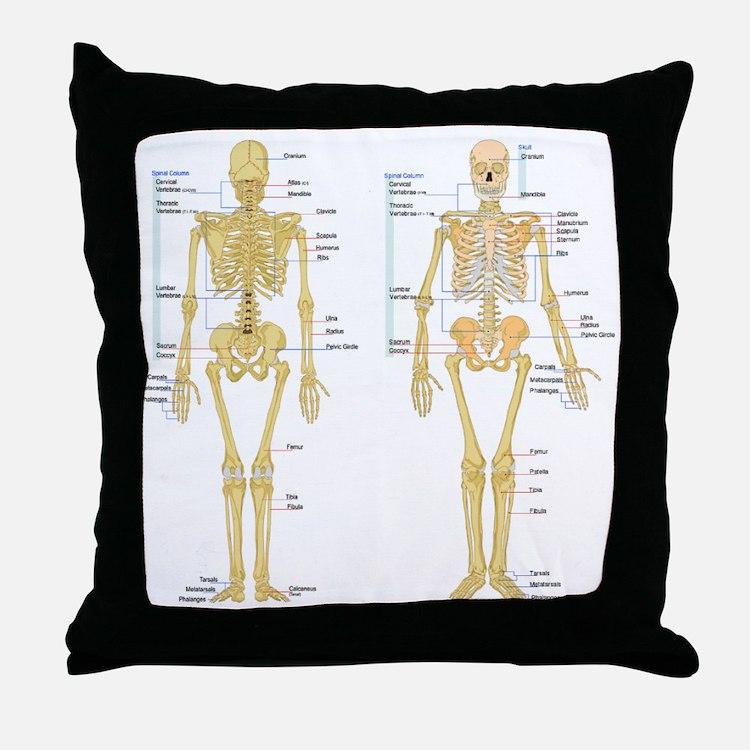 Cute Anatomy Throw Pillow