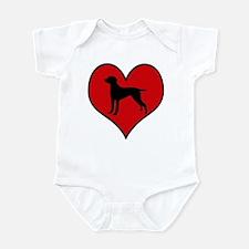 Weimeraner heart Infant Bodysuit